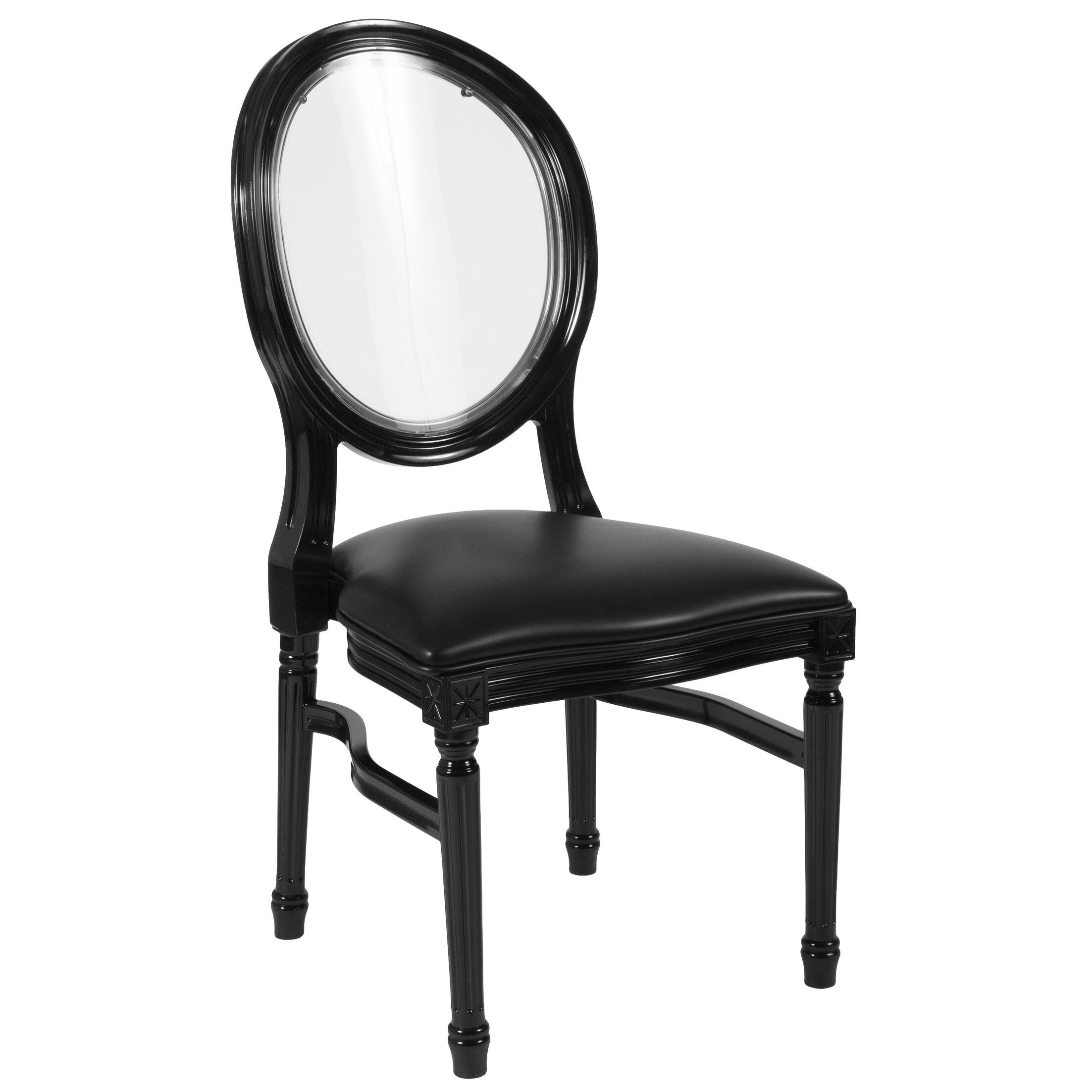 Komar Upholstered Dining Chair Upholstery Color: Transparent, Frame Color: White