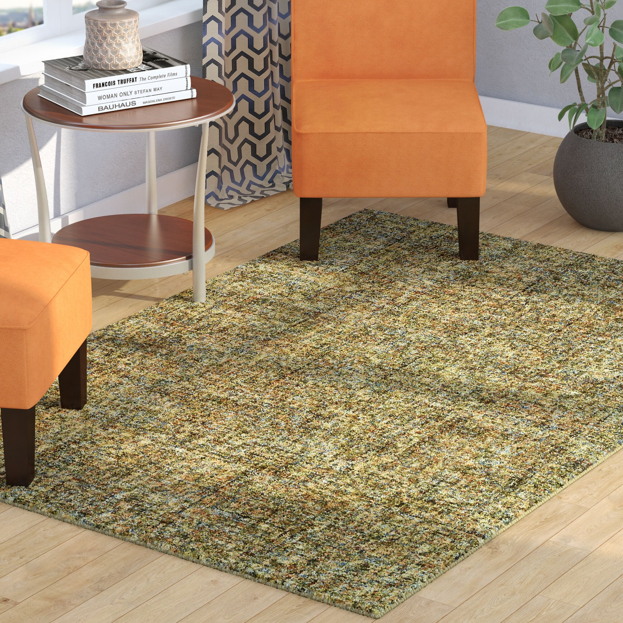 Gilboa Hand-Tufted Wool Meadow Area Rug Rug Size: Rectangle 5' x 7'6