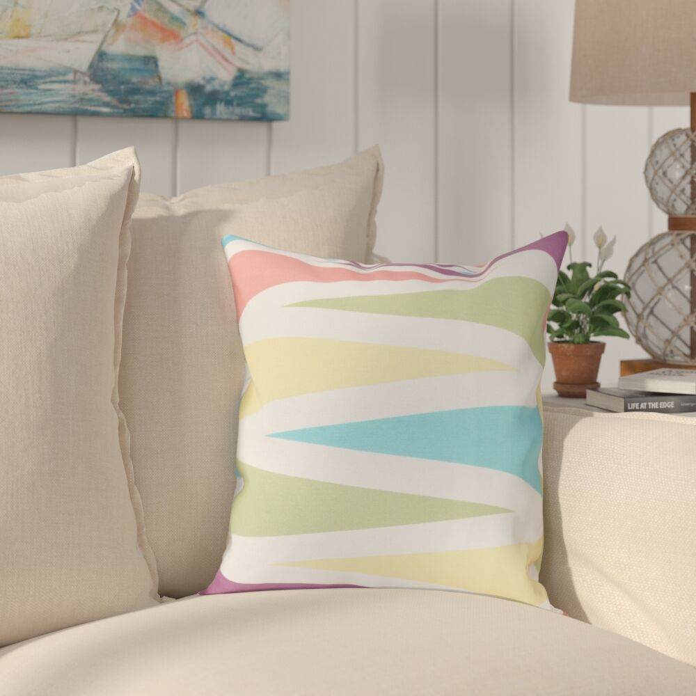 Boubacar Backgammon Geometric Throw Pillow Color: Turquoise, Size: 26
