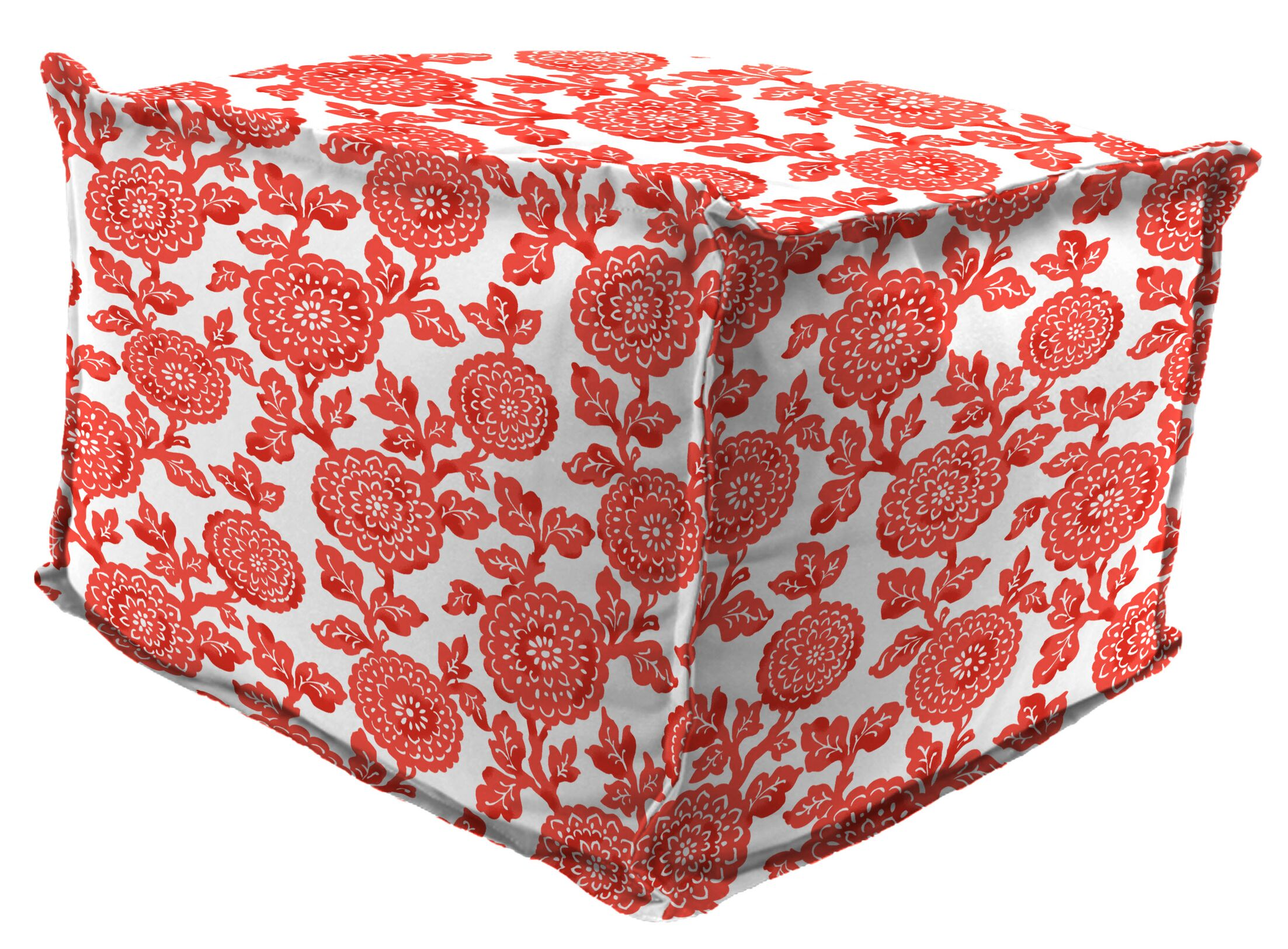Wilford Flange Edge Pouf Ottoman with Cushion Size: 17