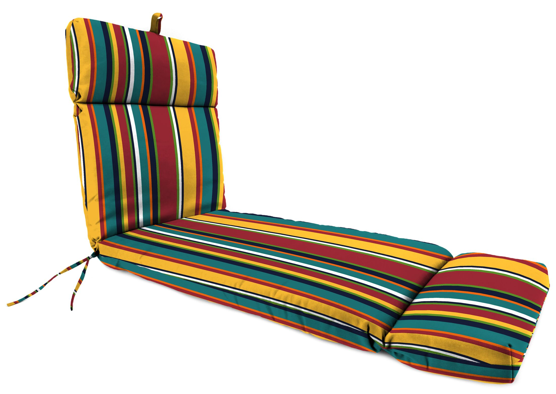 Sandalwood Indoor/Outdoor Chaise Lounge with Cushion Color: Yellow/White