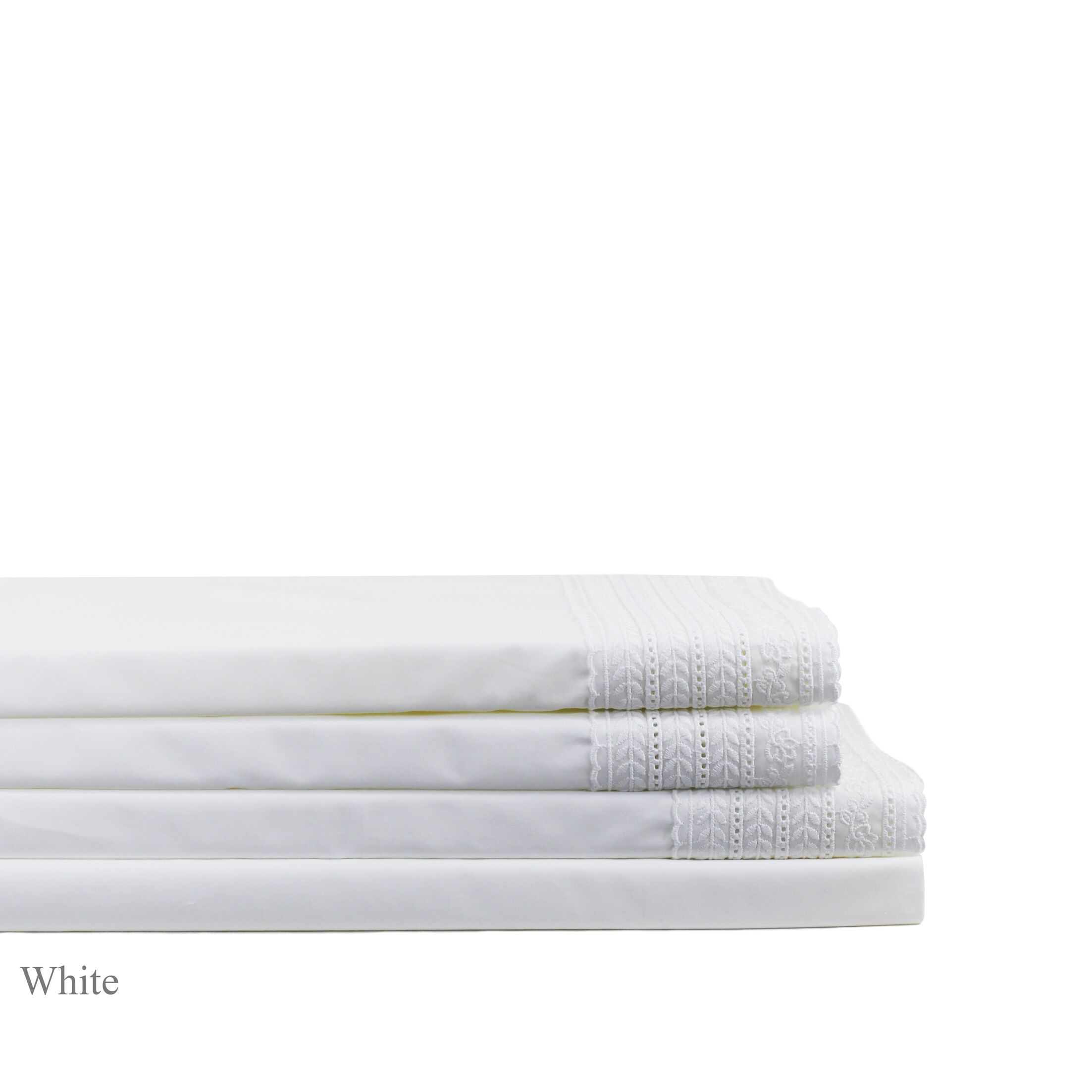Pirtle 300 Thread Count Percale Sheet Set Size: California King