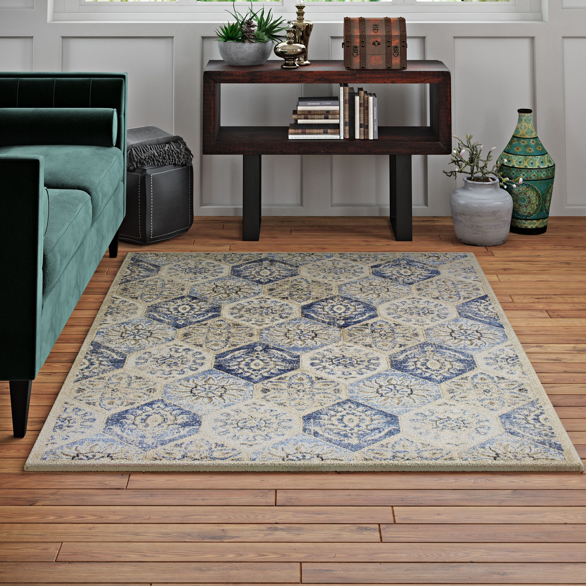 Holder Pewter Area Rug Rug Size: Rectangle 5'3