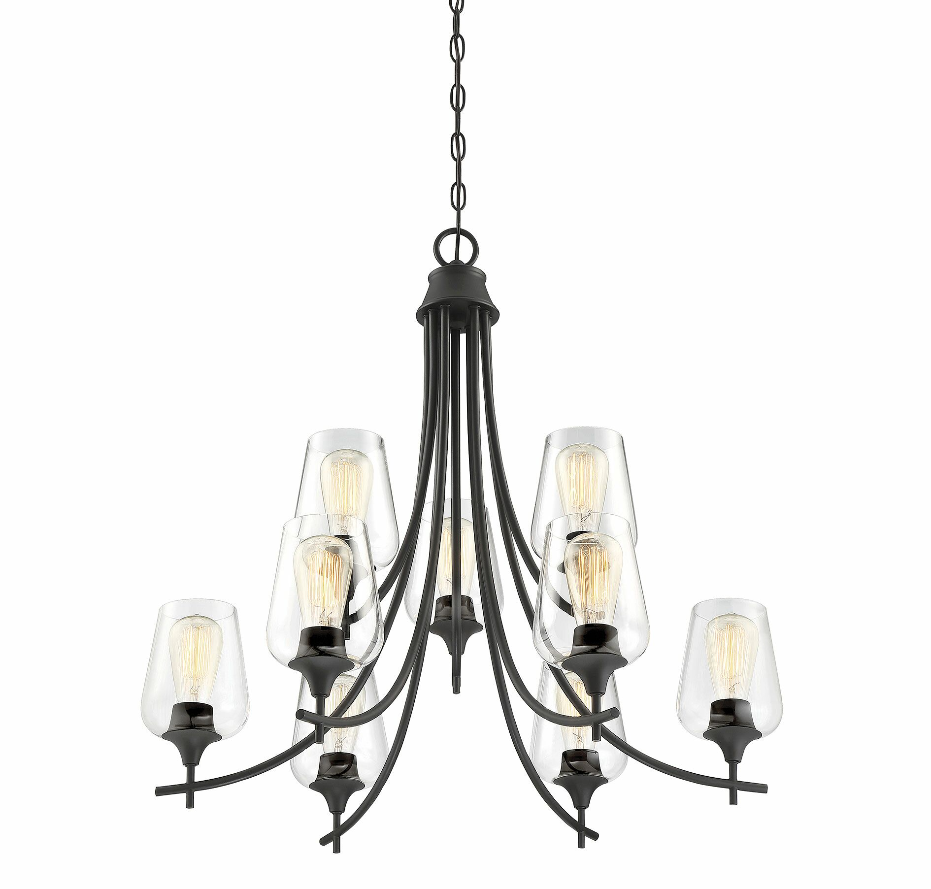 Staci 9-Light Shaded Chandelier Finish: English Bronze