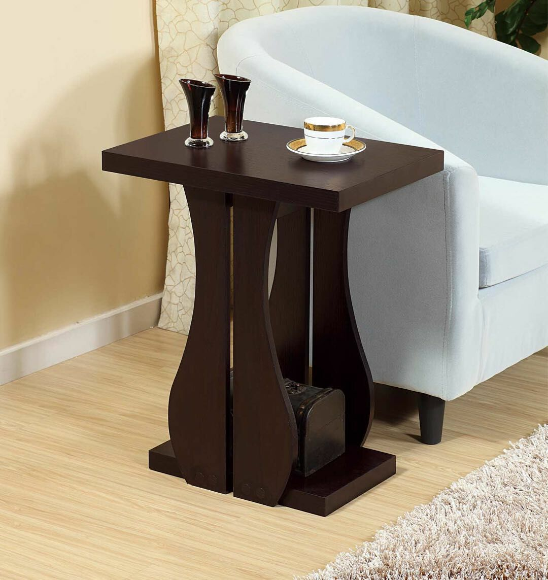 Melin Chairside End Table with Storage Color: Red Cocoa