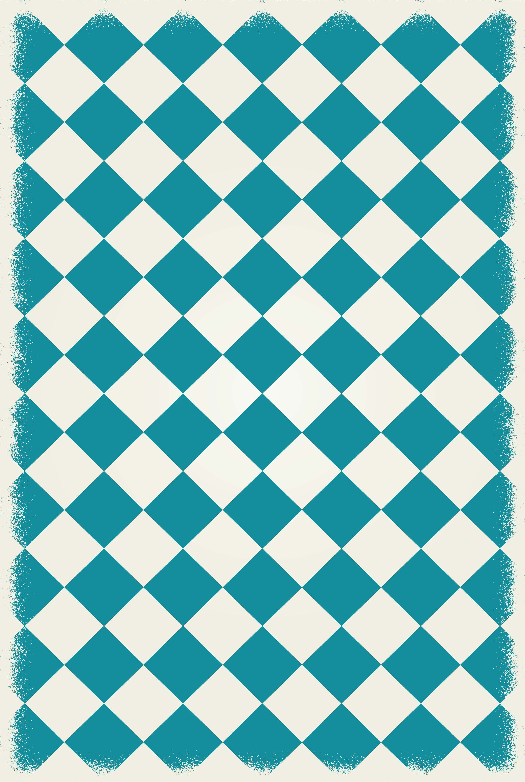 Wendland Diamond European Design Teal/White Indoor/Outdoor Area Rug Rug Size: Rectangle 4' x 6'