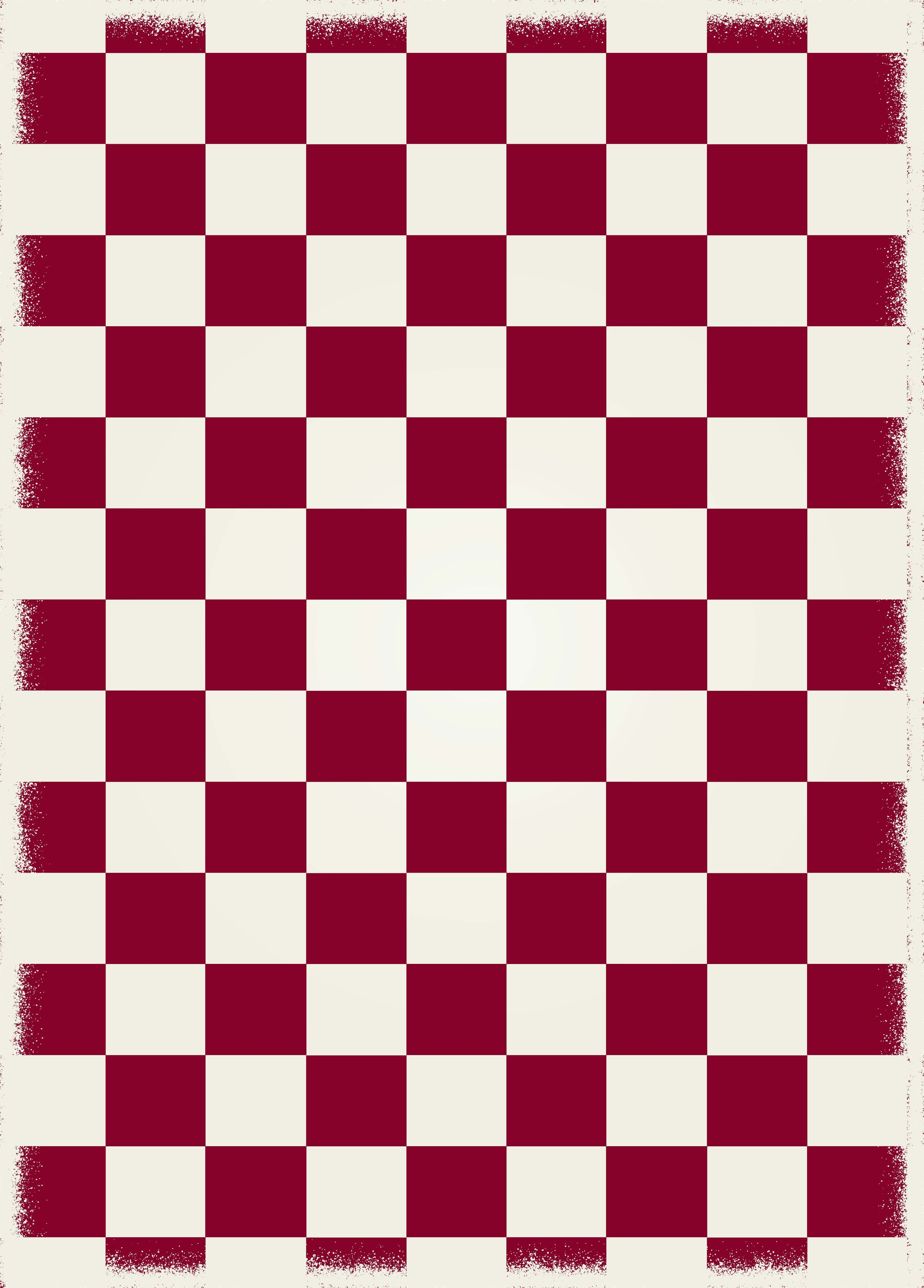 Adabahr Checker Red/White Indoor/Outdoor Area Rug Size: Rectangle 4' x 6'