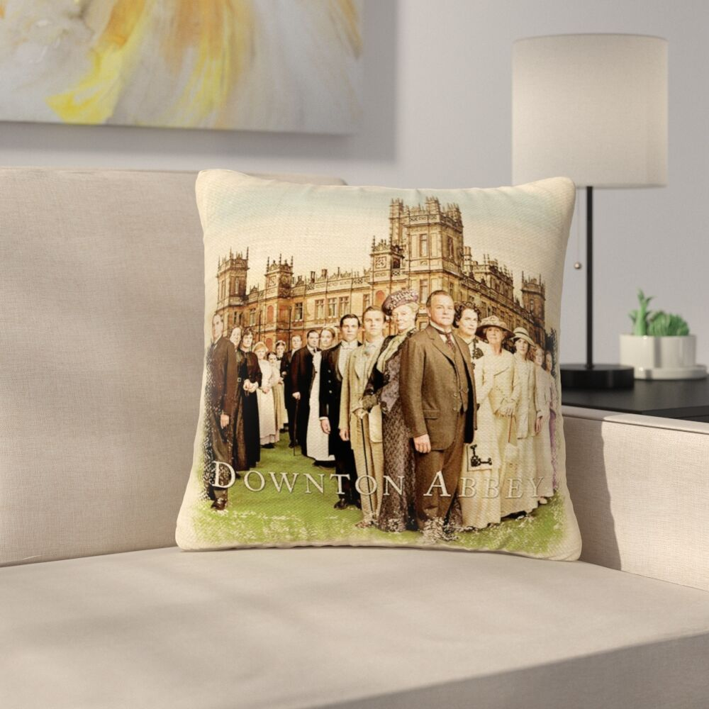Lamour Downtown Abbey Cast British Decorative Square Throw Pillow