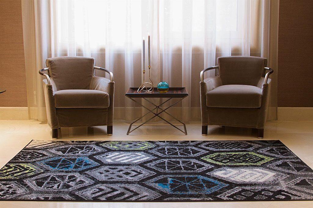 Melbourne Wool Black Indoor/Outdoor Area Rug Rug Size: Rectangle 8' x 11'