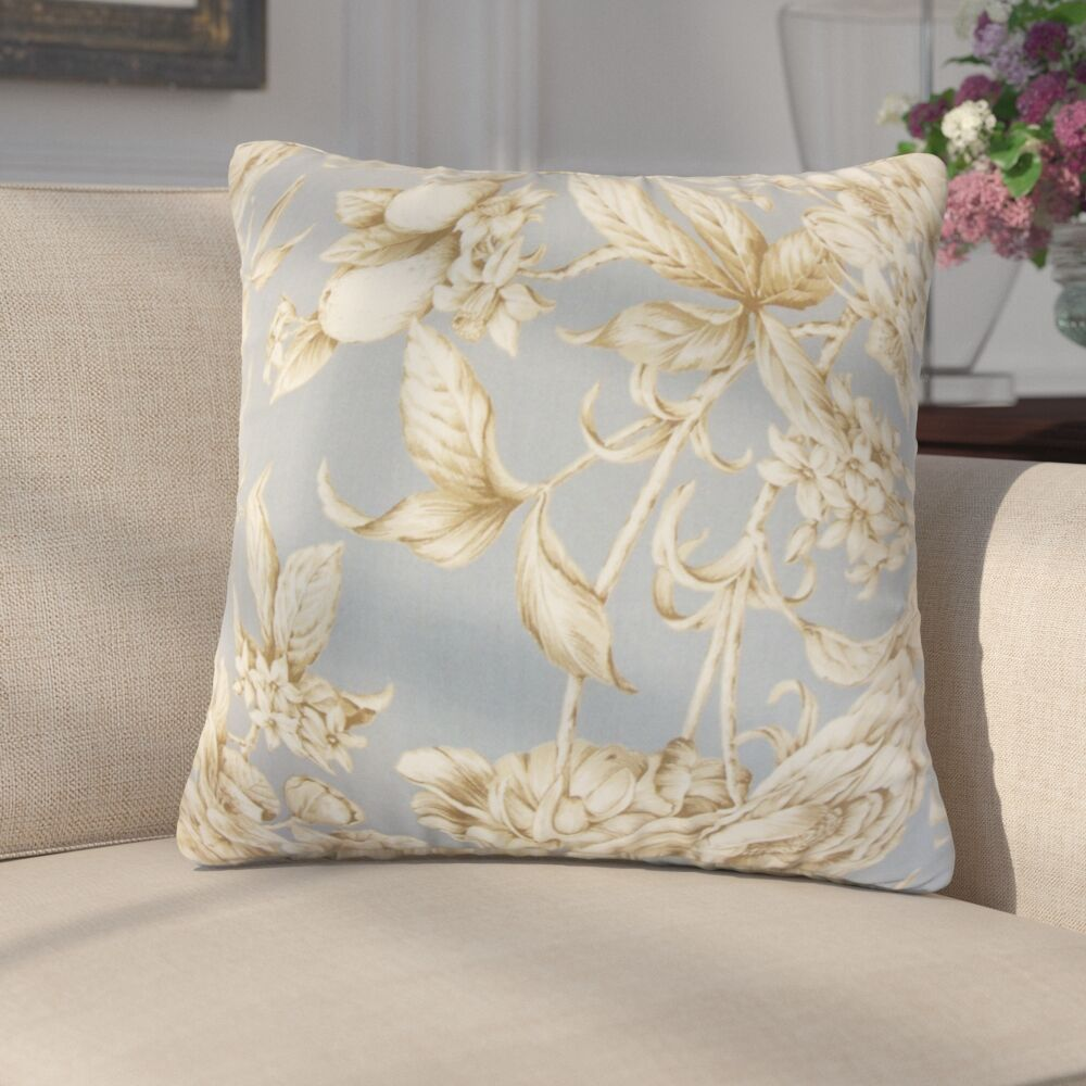 Gino Floral Cotton Throw Pillow