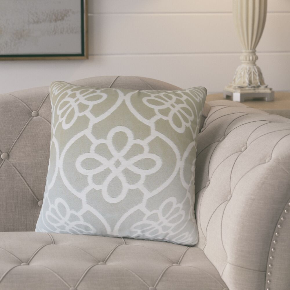 Adalric Geometric Cotton Throw Pillow Color: Dove