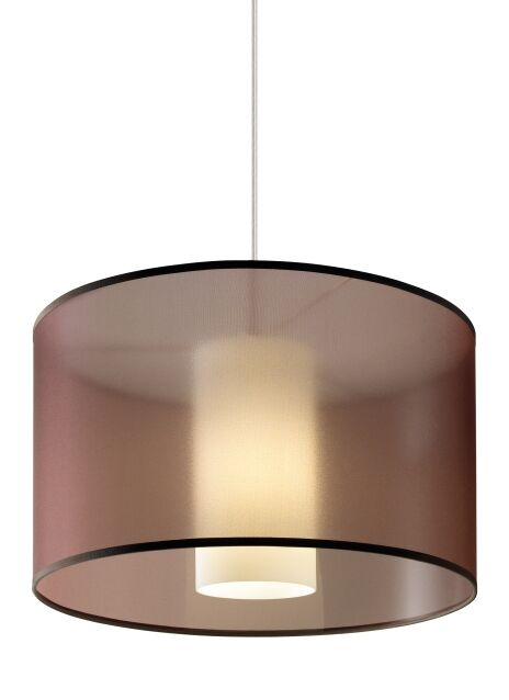 Gosnell 1-Light Pendant Shade Color: Brown, Finish: White