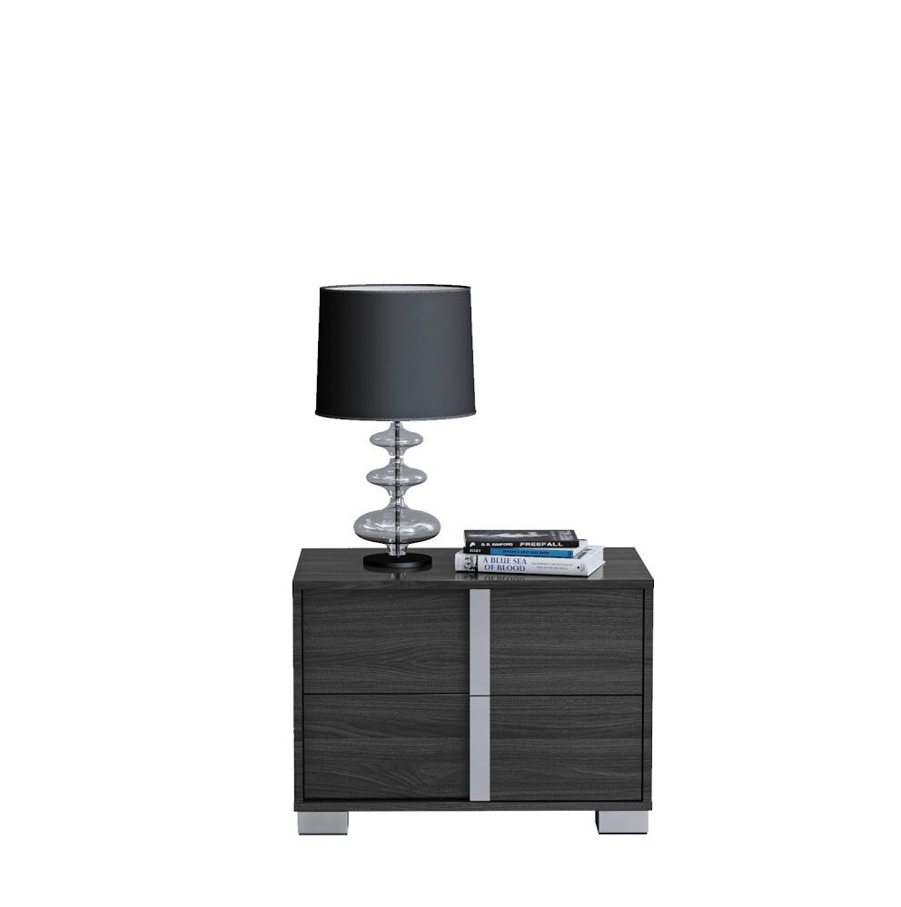 Granberry 2 Drawers Nightstand Color: Midnight Gray, Door Configuration: Right