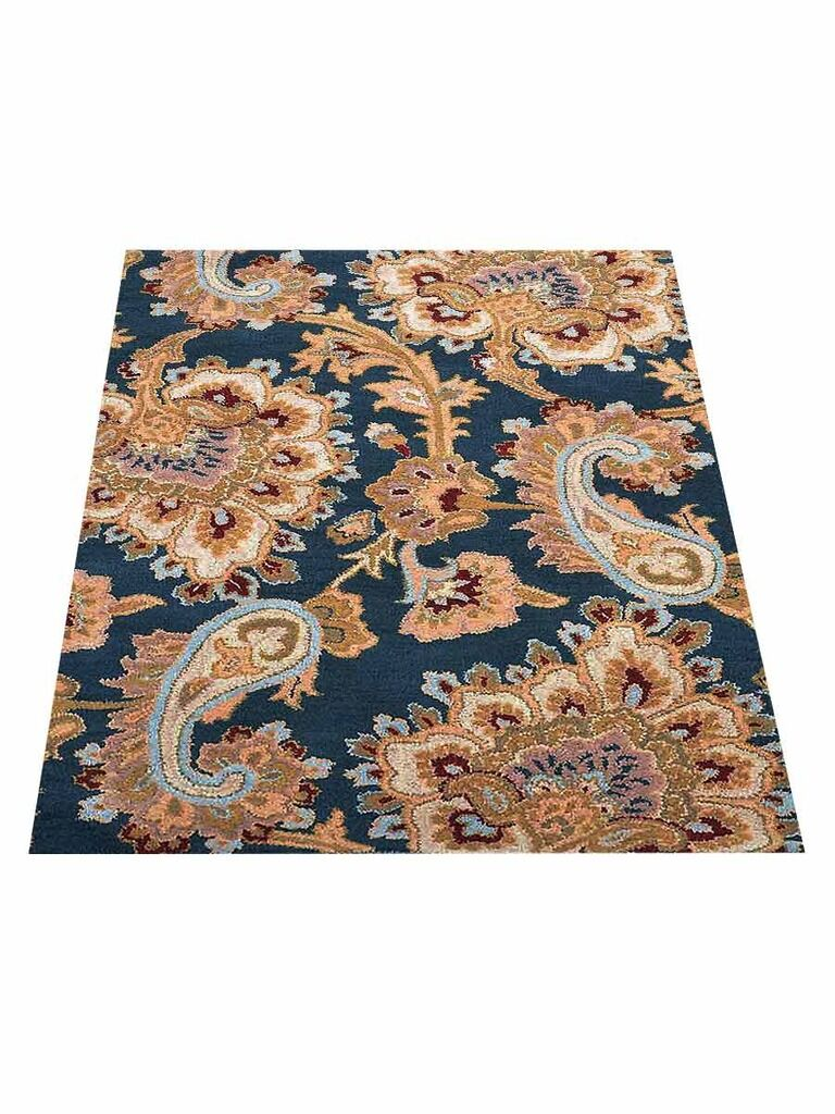 Smithton Hand-Tufted Wool Blue Area Rug Rug Size: Rectangle 5' x 8'