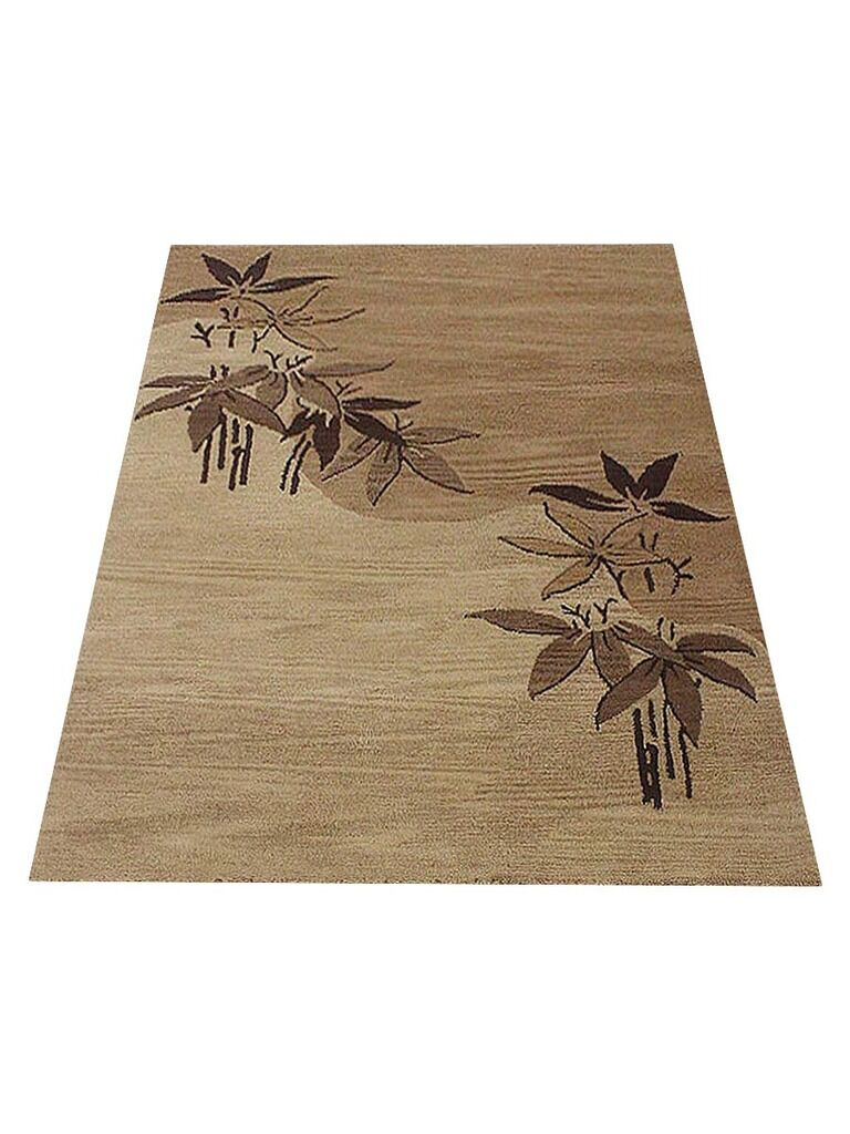 Cozette Hand-Tufted Wool Light Brown Area Rug Rug Size: Rectangle 9' x 12'