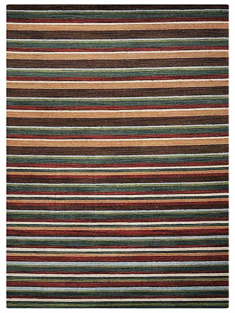 St Catherine Hand-Woven Wool Brown/Green Area Rug Rug Size: Rectangle 6'7
