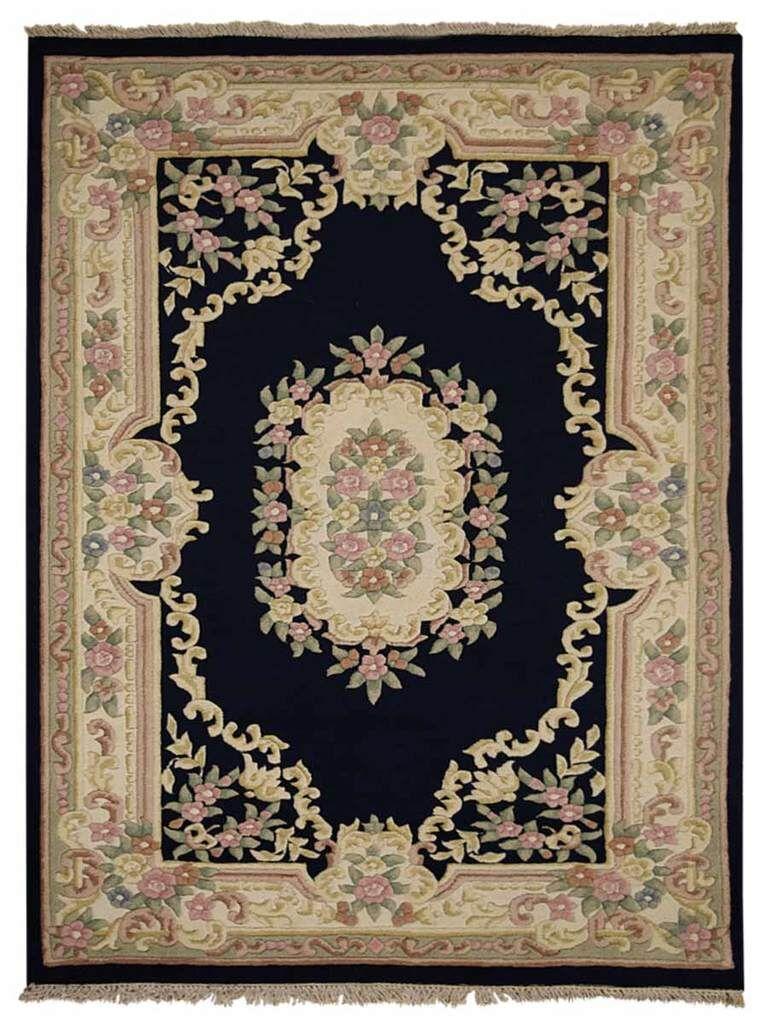 Hinnenkamp Hand-Woven Wool Navy Area Rug Rug Size: Rectangle 5'4