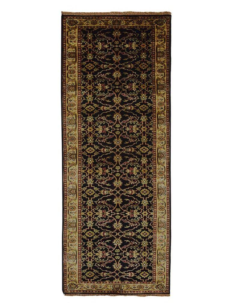 Olszewski Hand-Woven Wool Black Area Rug Rug Size: Runner2'6