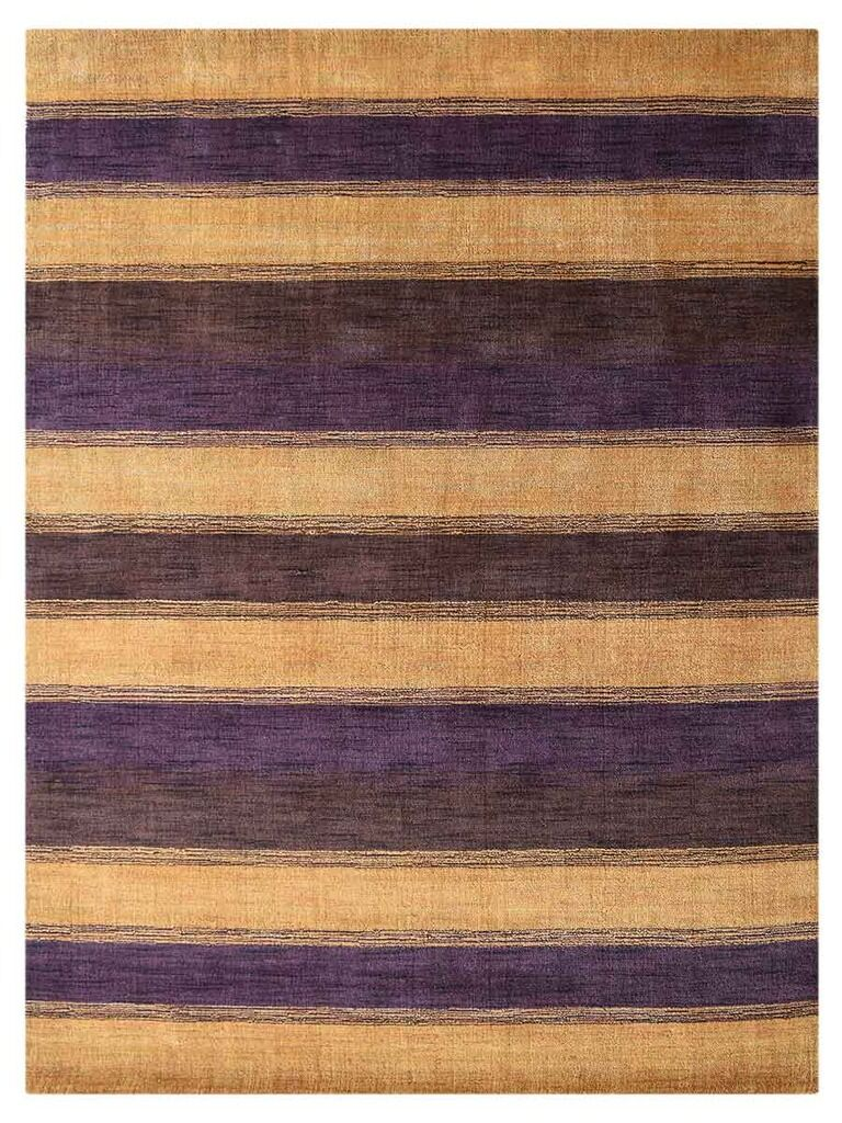 St Catherine Hand-Woven Wool Gold/Purple Area Rug
