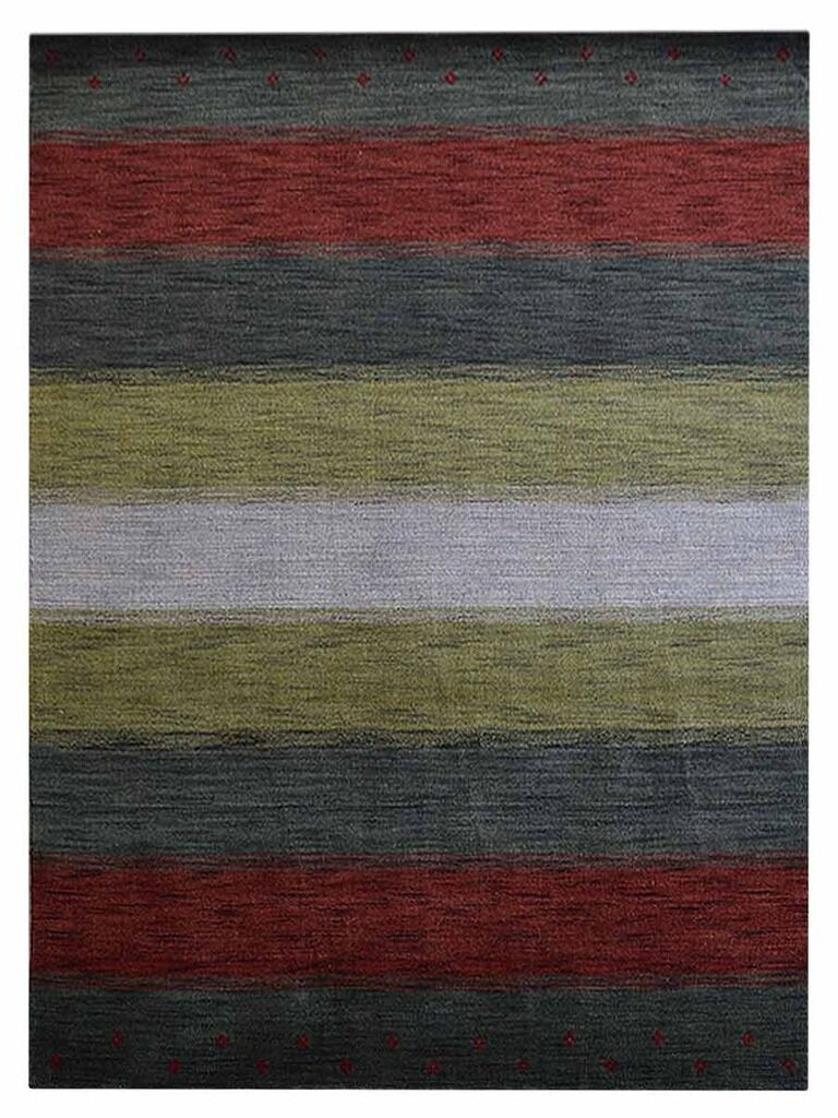 St Catherine Hand-Woven Wool Gray/Red Area Rug Rug Size: Rectangle9' x 12'