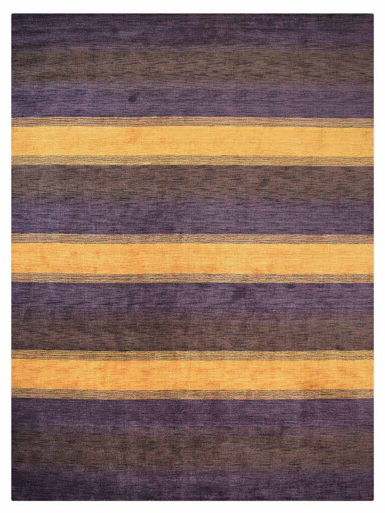 St Catherine Hand-Woven Wool Purple/Brown Area Rug Rug Size: Rectangle 5' x 8'