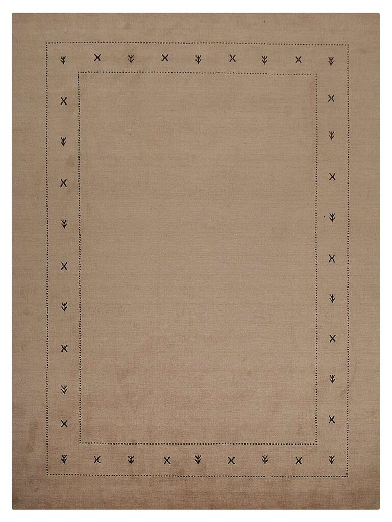 Manns Hand-Woven Wool Beige Area Rug Rug Size: Rectangle5' x 8'