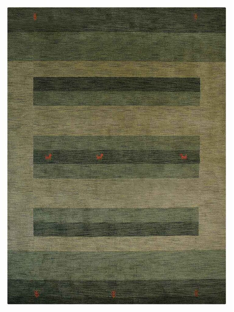 St Catherine Hand-Woven Wool Green Area Rug Rug Size: Rectangle6'7