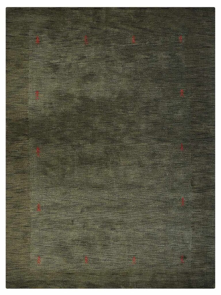 Manns Hand-Woven Wool Olive Area Rug Rug Size: Rectangle8' x 11'