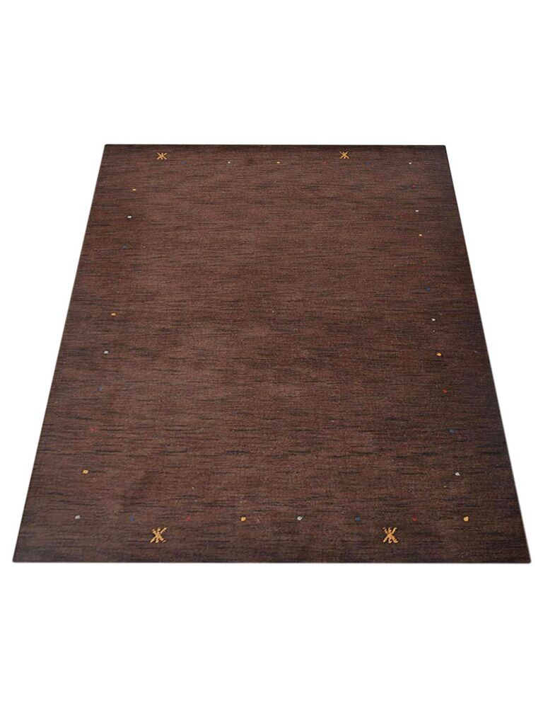 Ry Hand-Knotted Wool Brown Area Rug Rug Size: Rectangle 5' x 8'