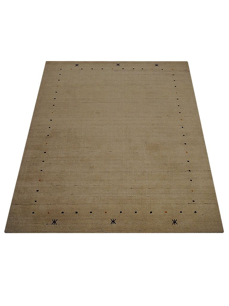 Ry Hand-Knotted Wool Beige Area Rug