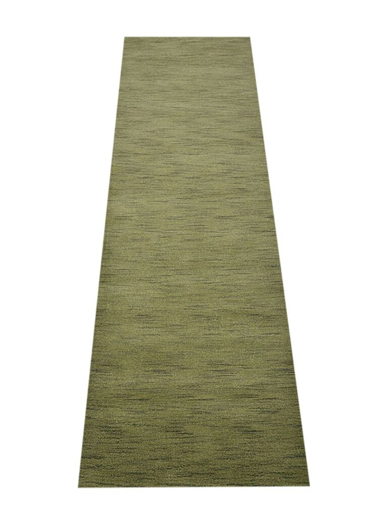 Ry Hand-Knotted Wool Green Area Rug Rug Size: Runner 2'6'' x 12'