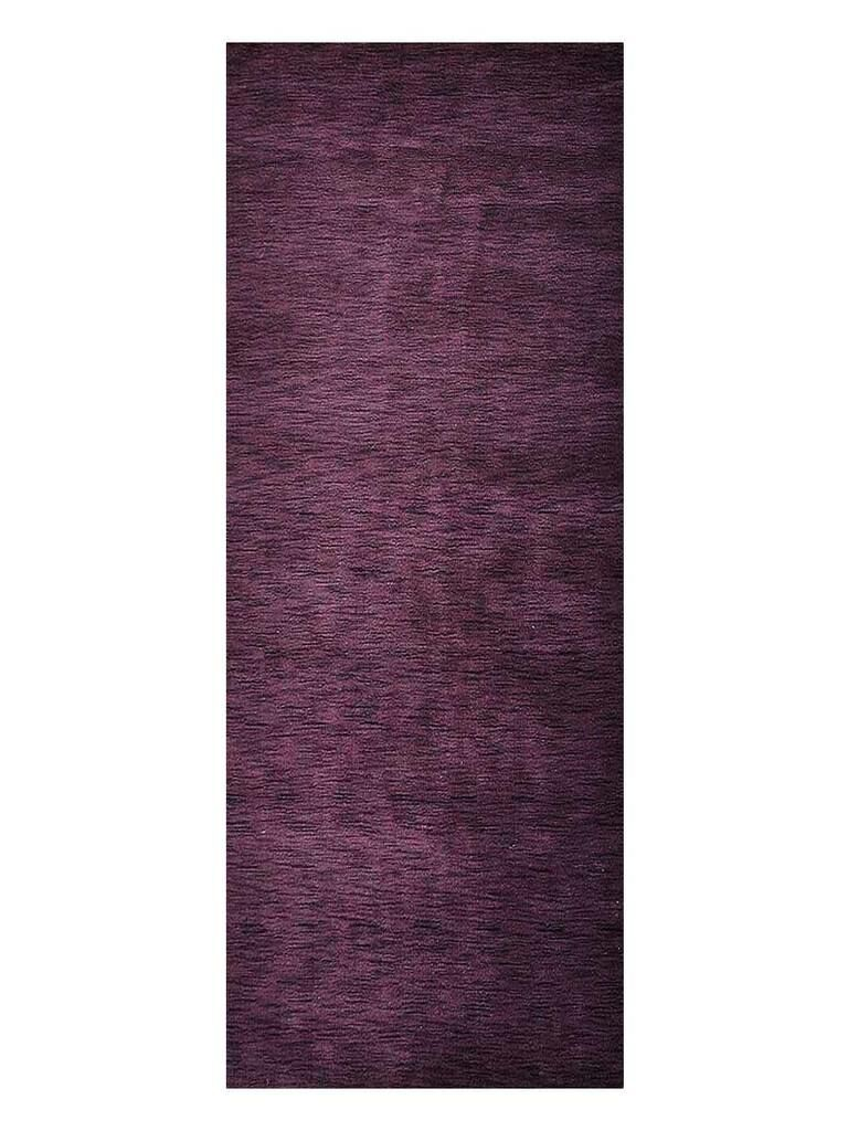 Delano Solid Hand-Woven Wool Purple Area Rug Rug Size: Runner 2'8