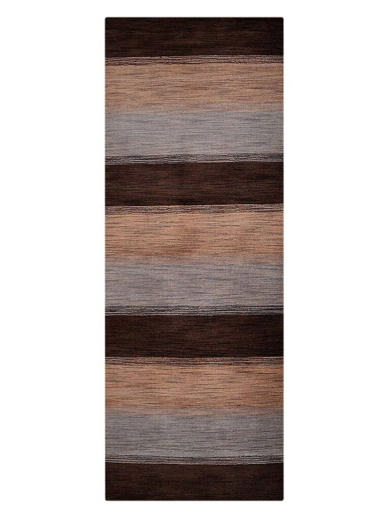 Ceniceros Striped Hand-Woven Wool Brown/Beige Area Rug Rug Size: Runner 2'6