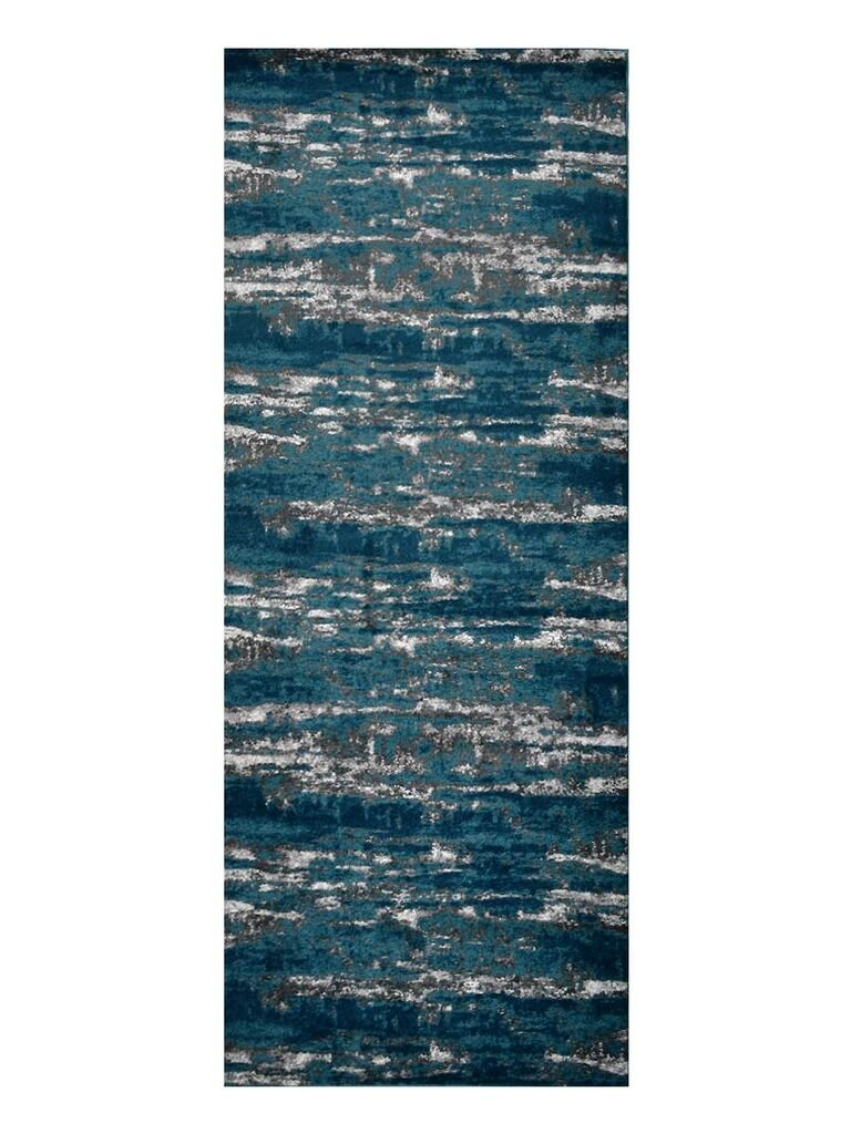 Costales Silver/Blue Area Rug Rug Size: Rectangle 9' x 12'