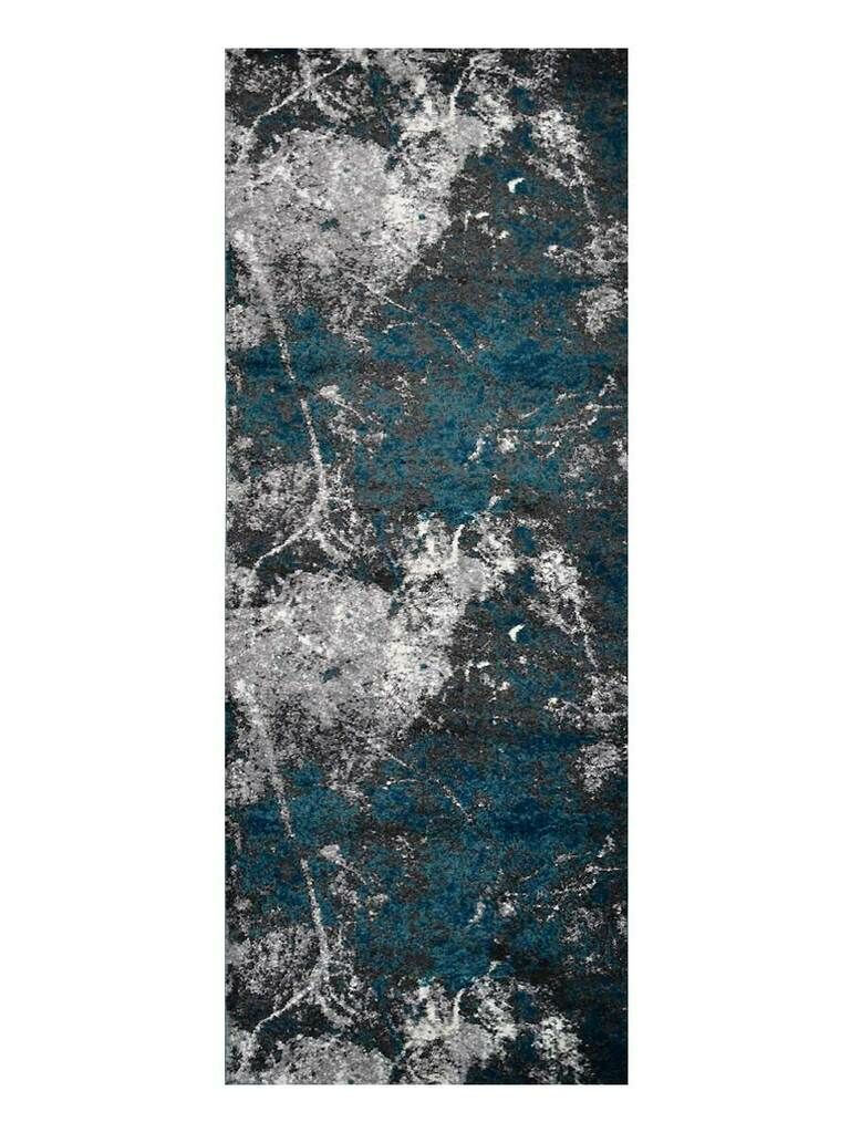Costales Silver/Blue Area Rug Rug Size: Rectangle 8' x 10'