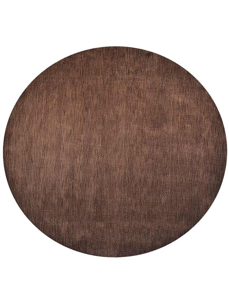 Ceniceros Solid Hand-Woven Wool Brown Area Rug Rug Size: Round 8'