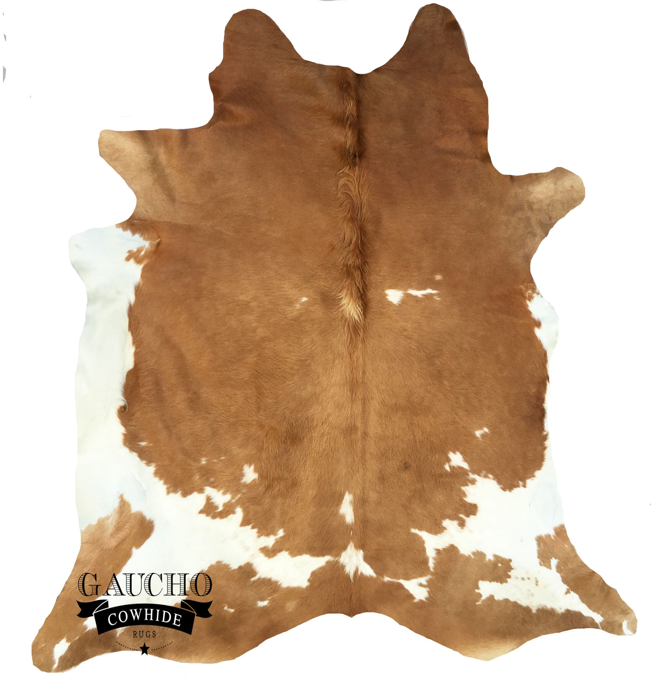 One-of-a-Kind Pinney Beige/White Cowhide Area Rug
