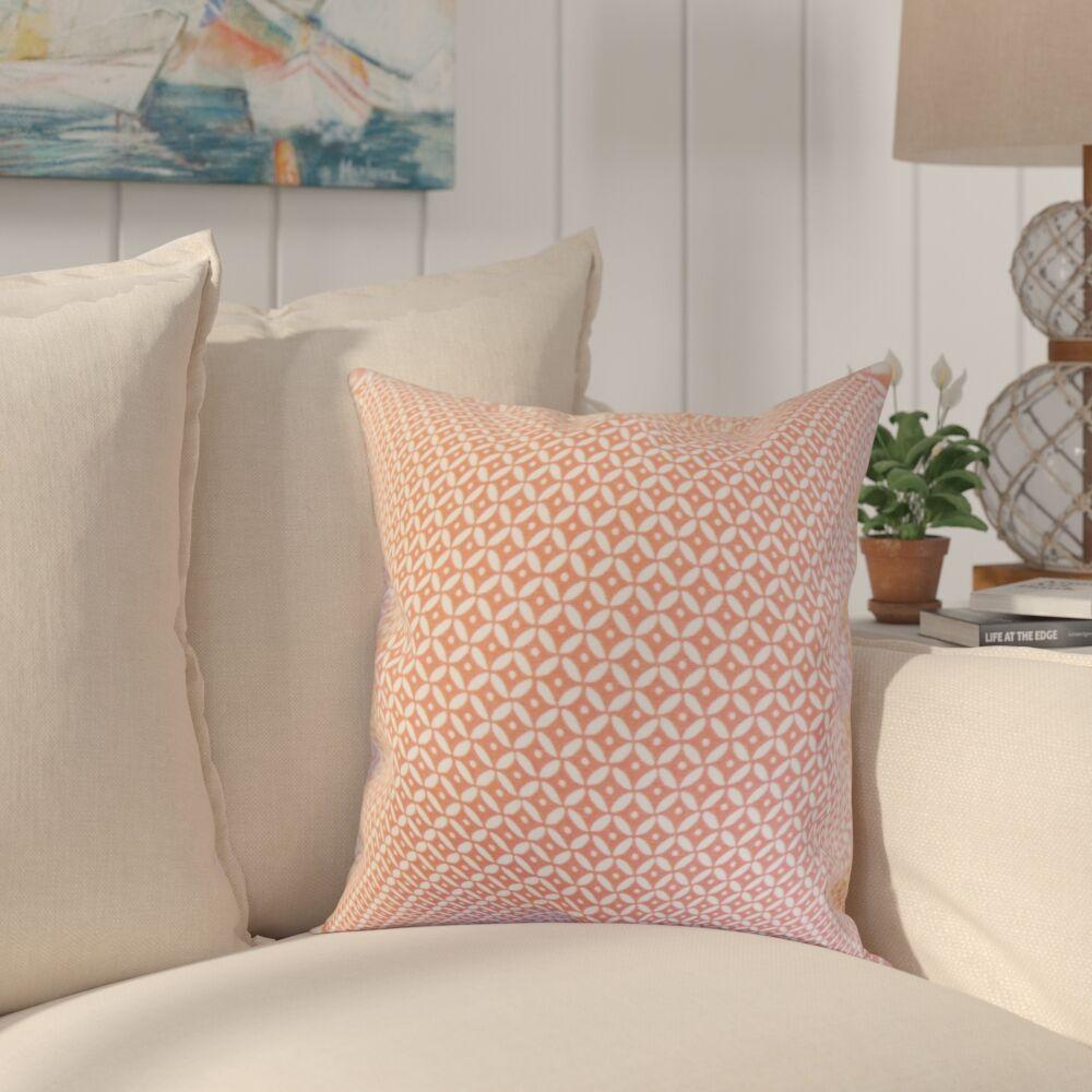 Conrad Geometric Cotton Throw Pillow Color: Blush, Size: 22