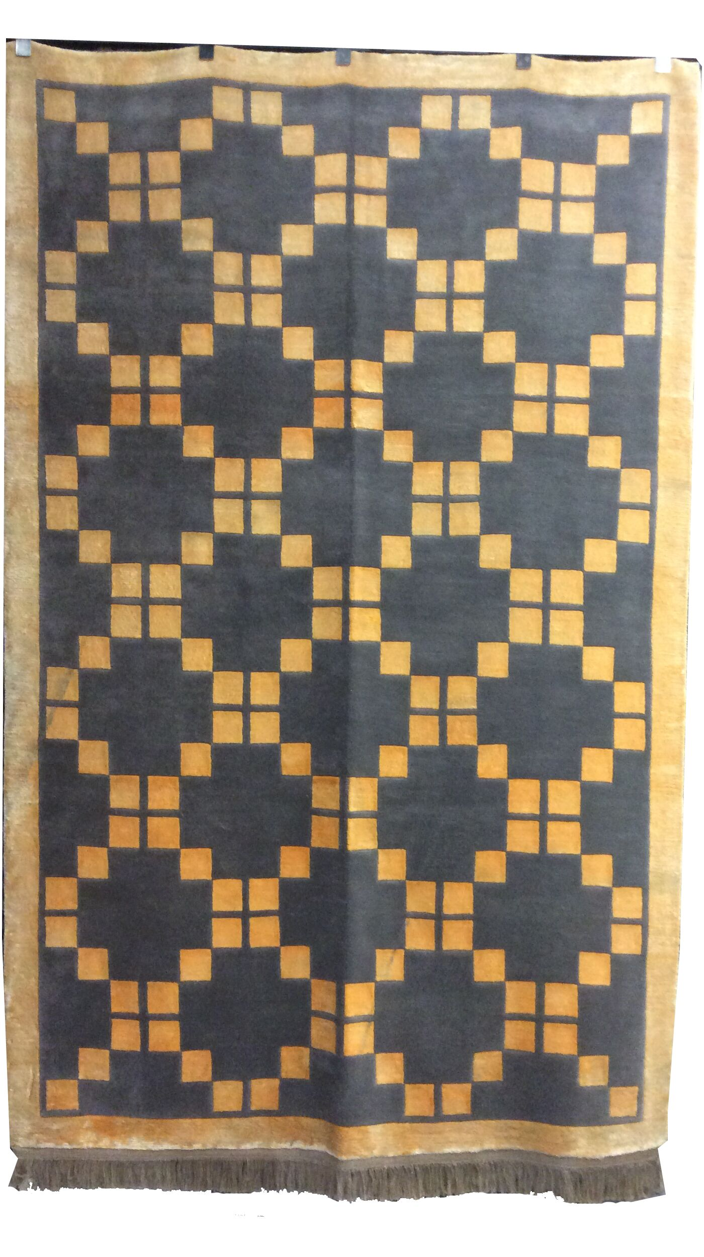 One-of-a-Kind Kohlmeier Hand-Knotted Wool Gray/Gold Area Rug