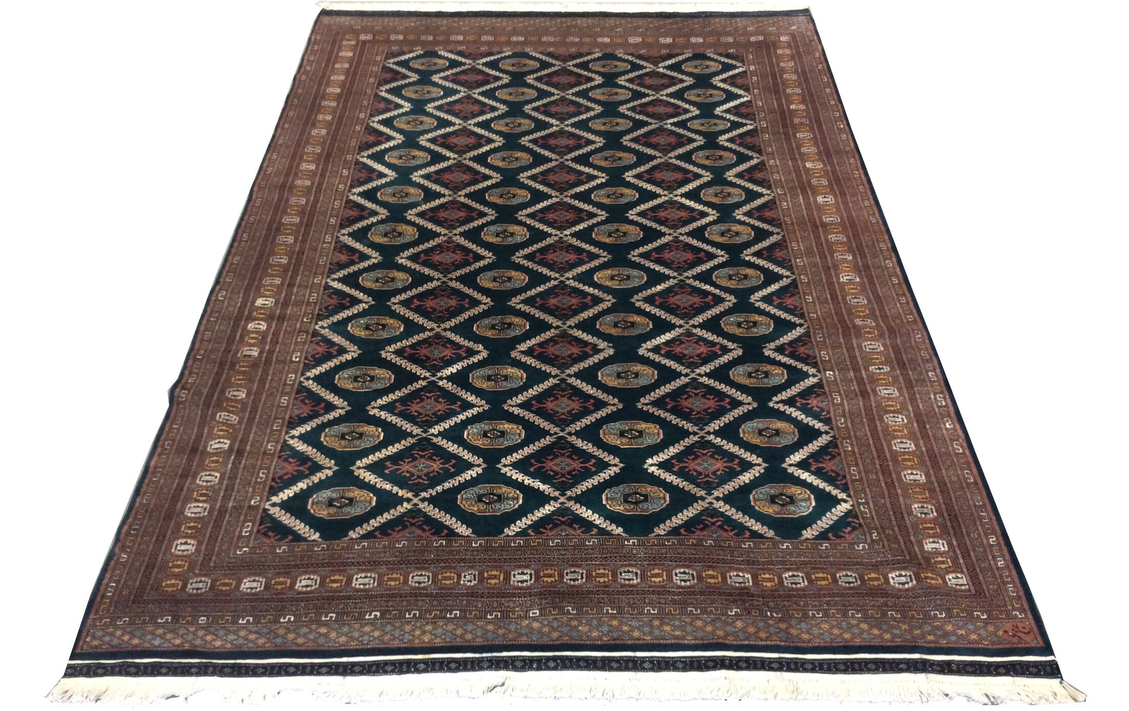 One-of-a-Kind Lyall Hand-Knotted Wool Brown/Beige/Black Area Rug
