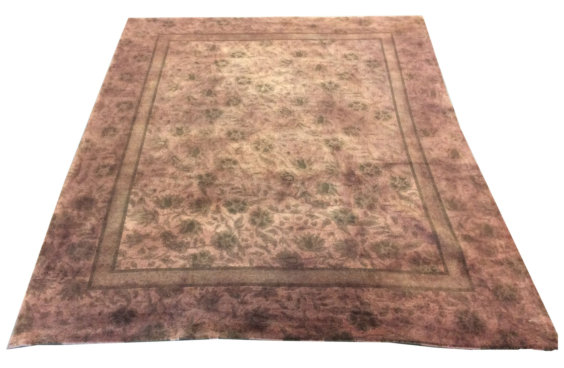 One-of-a-Kind Drury Hand-Knotted Wool Brown/Green Area Rug
