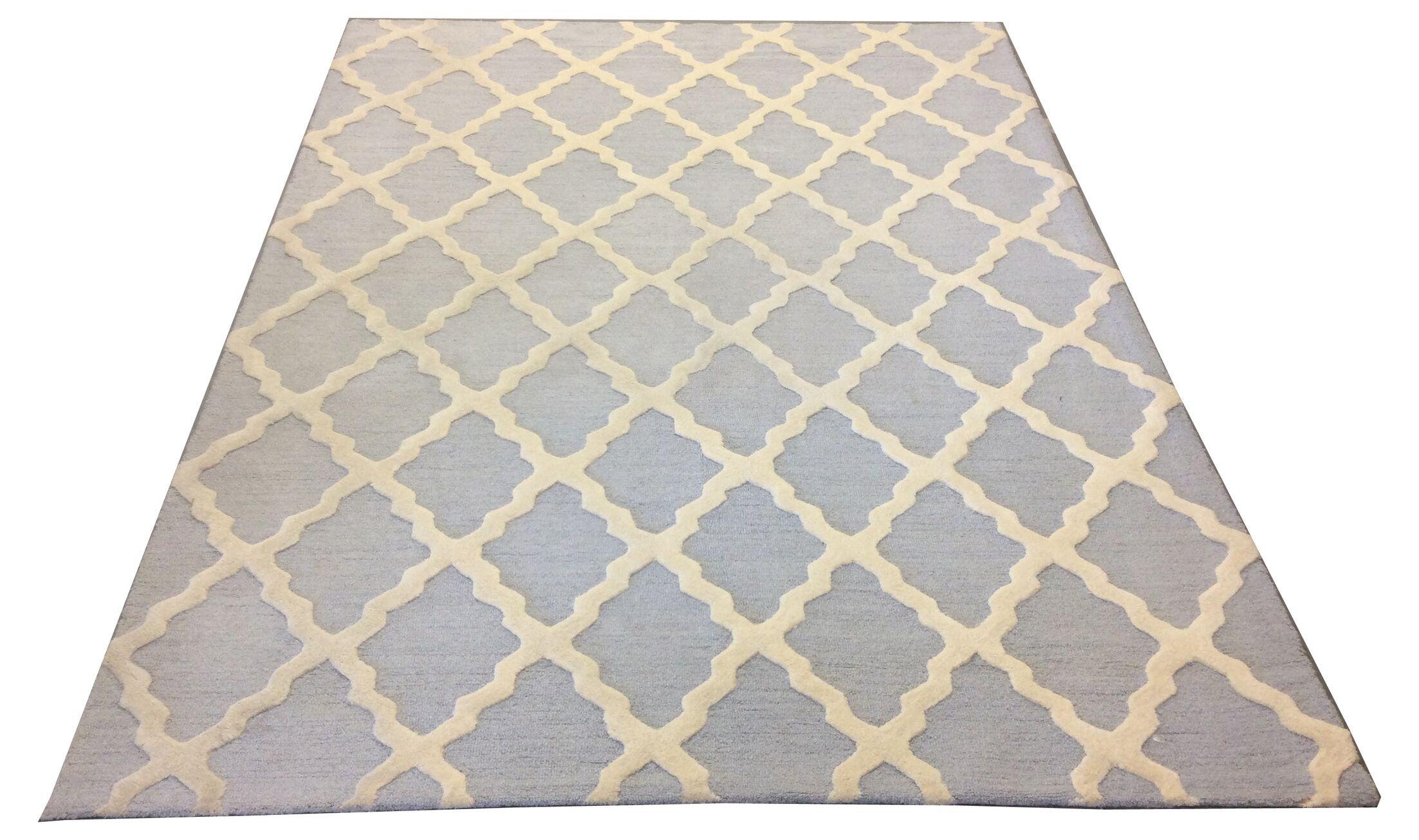 Ellery Handmade Wool Blue/Ivory Area Rug
