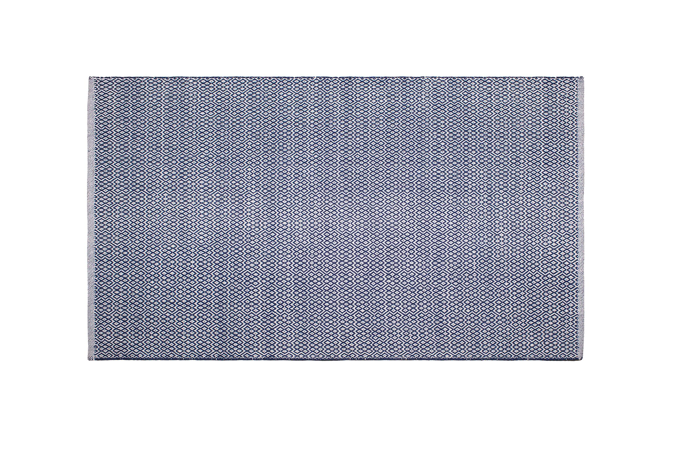 Mcgreevy Hand-Woven Cotton Blue Area Rug Rug Size: Rectangle 8' x 10'