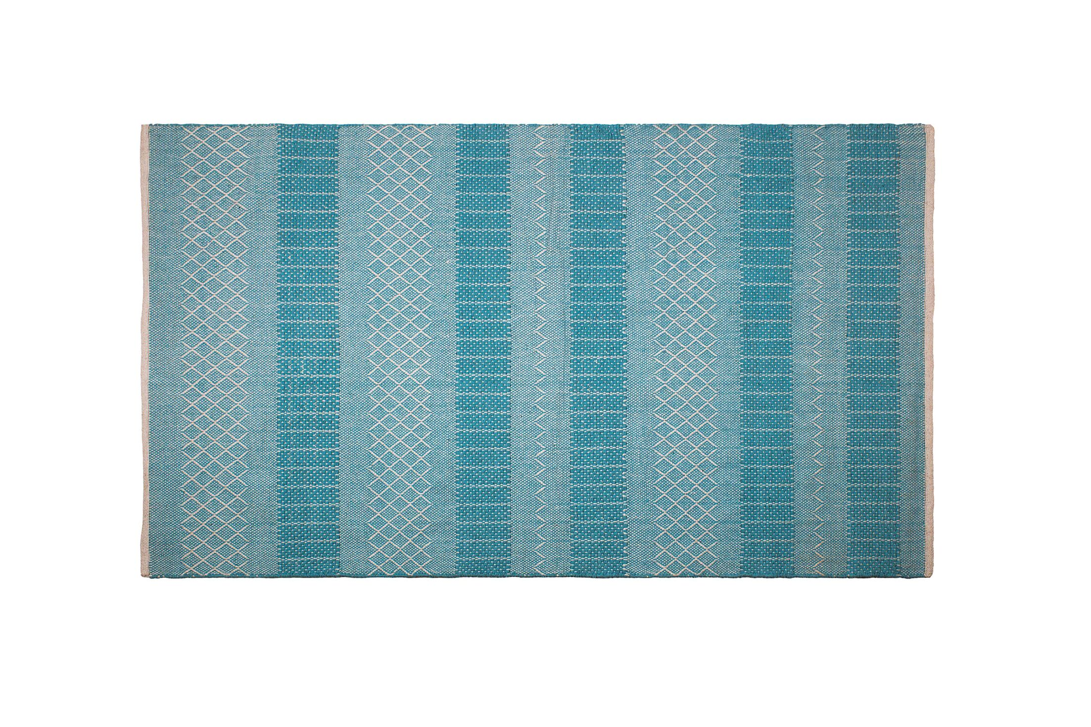 Chapdelaine Hand-Woven Cotton Sky Blue Rug Rug Size: Rectangle 4' x 6'