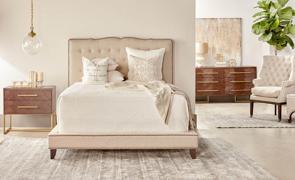 Lahaye Indigo Upholstery Bed Size: Standard King