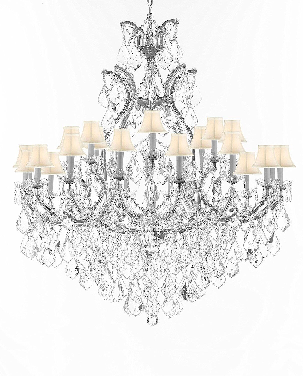 Maclachlan 25-Light Shaded Chandelier Color: Silver, Shade Color: White
