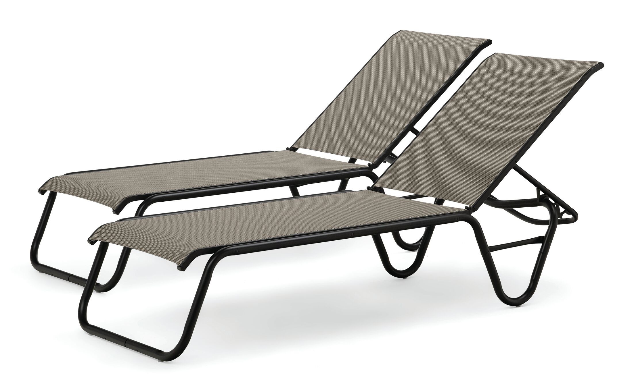 Maust Reclining Chaise Lounge Color: Tweed/Graphite