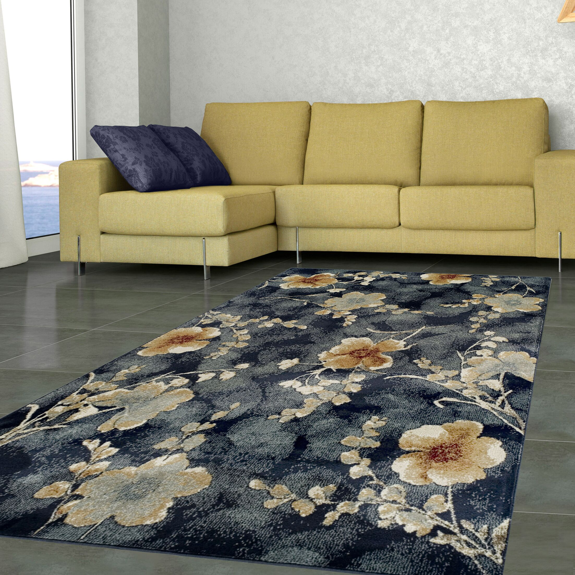 Dickerson Navy Blue Area Rug Size: Rectangle 8' x 10'