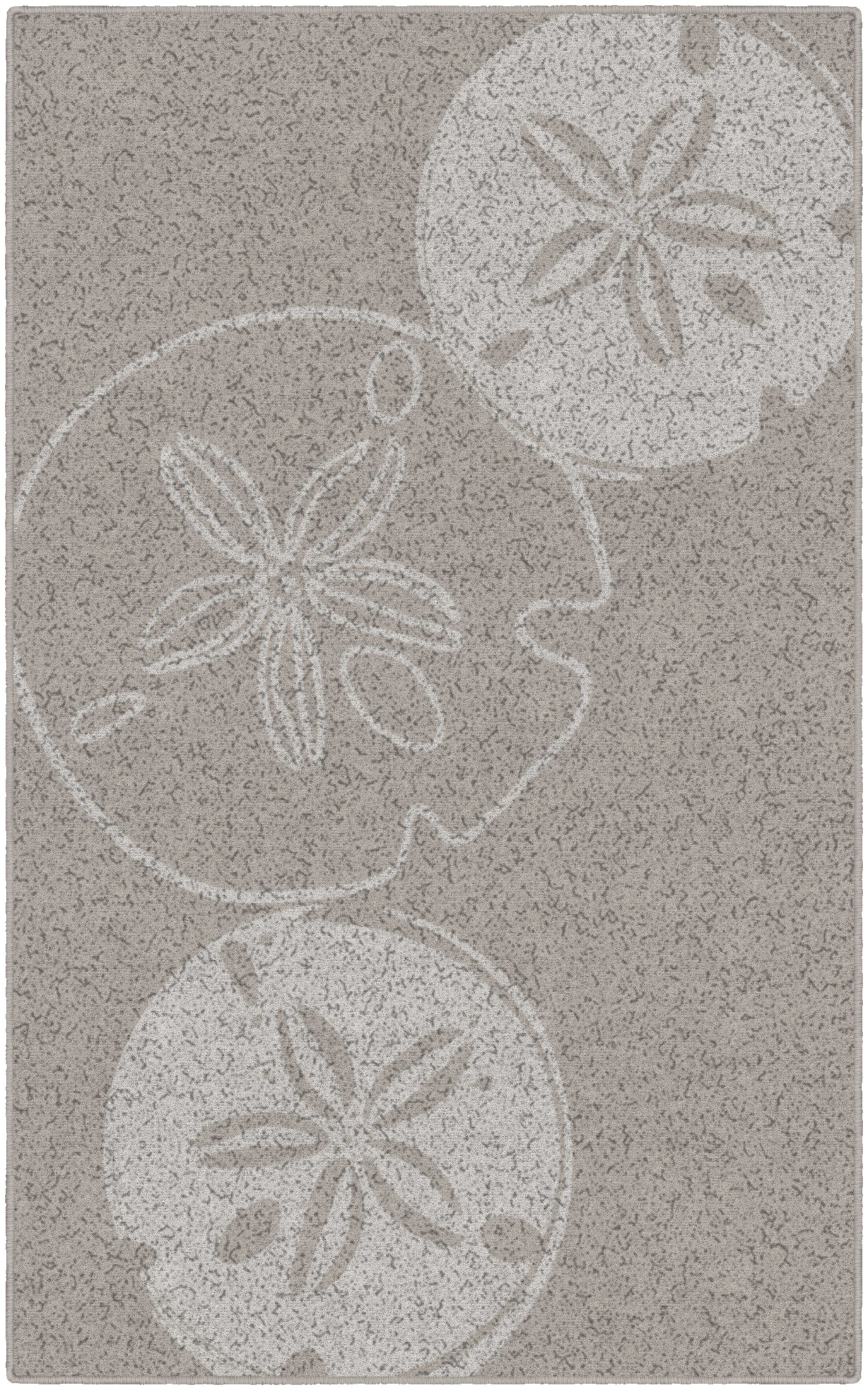 Chaves Sand Dollars Neutral Beach Beige Area Rug Rug Size: Rectangle 5' x 8'