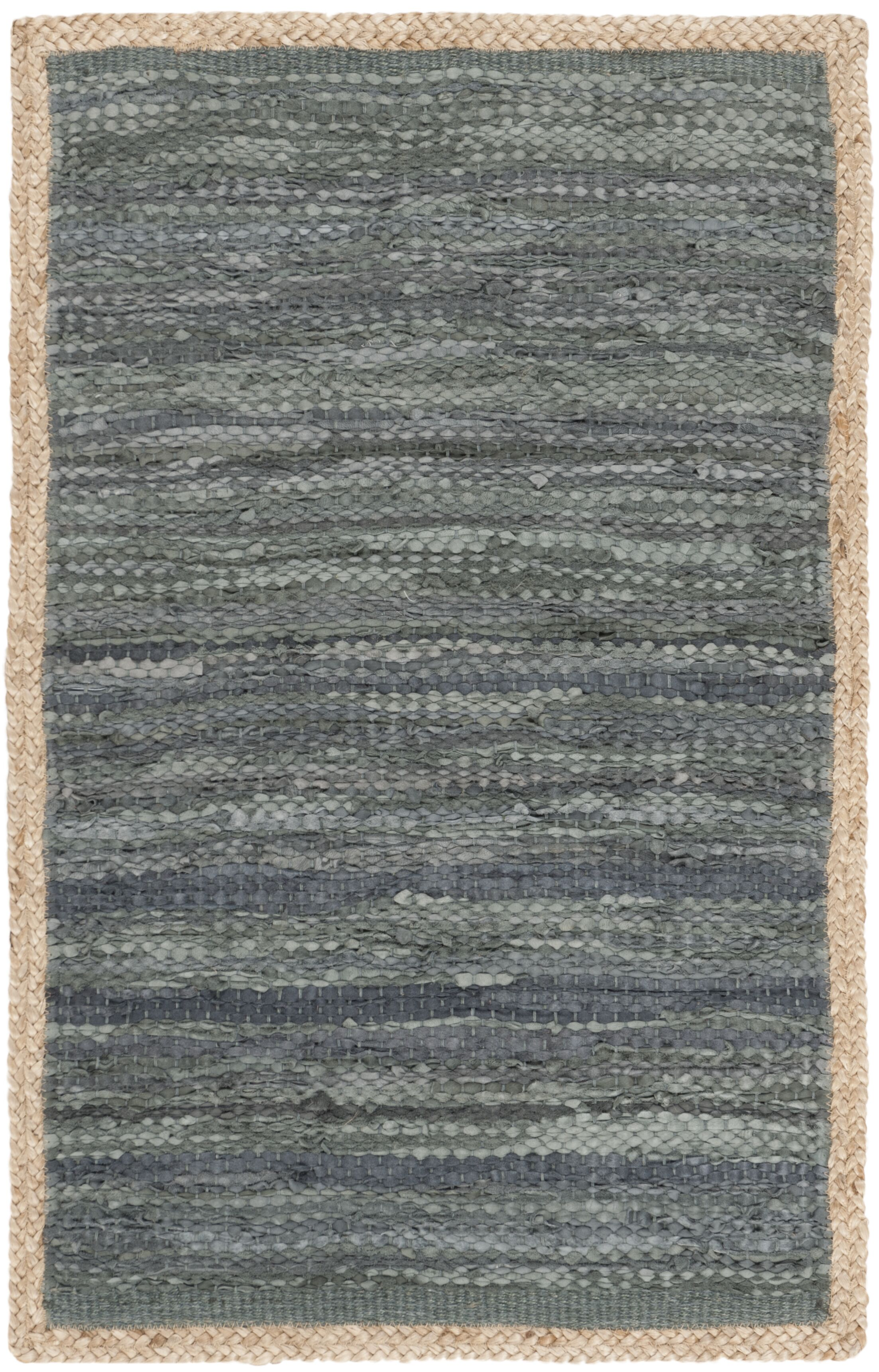 Church Hand-Woven Gray Area Rug Rug Size: Rectangle 4' x 6'
